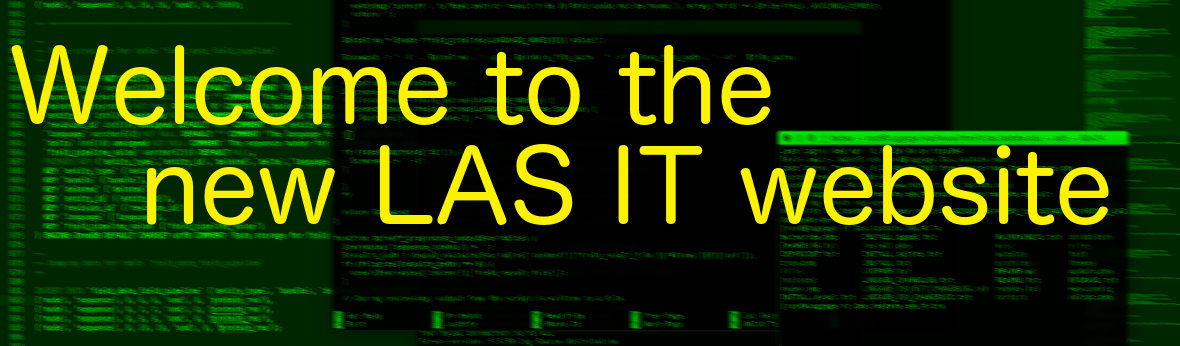 welcome to new LAS IT website image